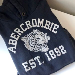 Abercrombie Kids Gray Blue Tiger Graphic Hoodie